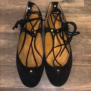 Chloé Foster Lace-Up Flats